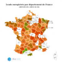 Carte statistique France par département