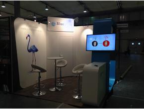 Installation du stand Stand Blue note systems sur le salon des nouvelles technologies de Strasbourg 2013
