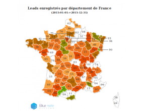 Carte statistique France par département