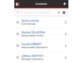 SugarCRM Mobile : liste et recherche de contacts