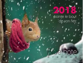 Toute l'équipe de Blue note systems vous souhaite de bonnes fêtes et une heureuse année 2018 !